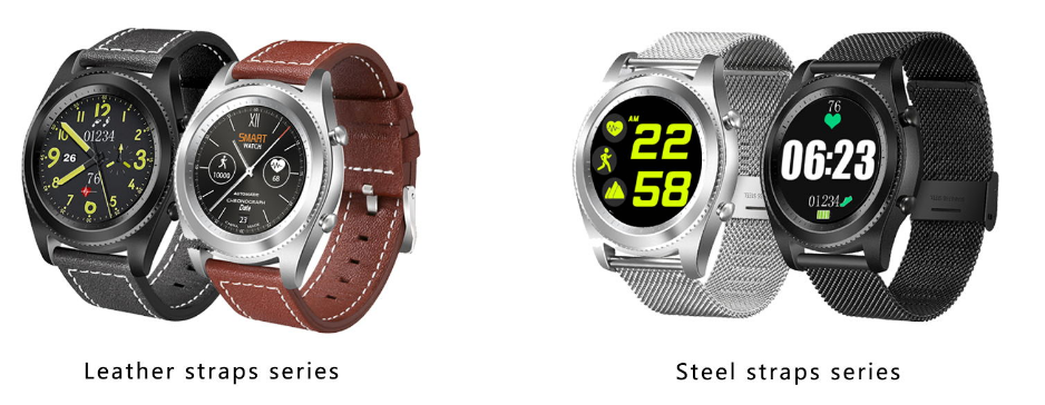 NO.1 S9 New watchface now supports heart rate and pedometer