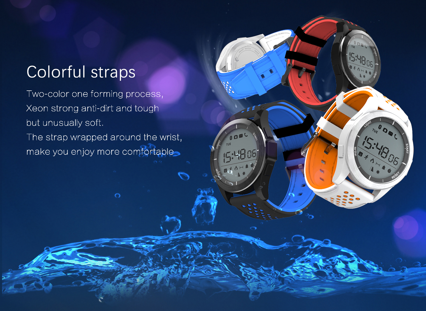 NO.1 F3 IP68 Waterproof Smartwatch
