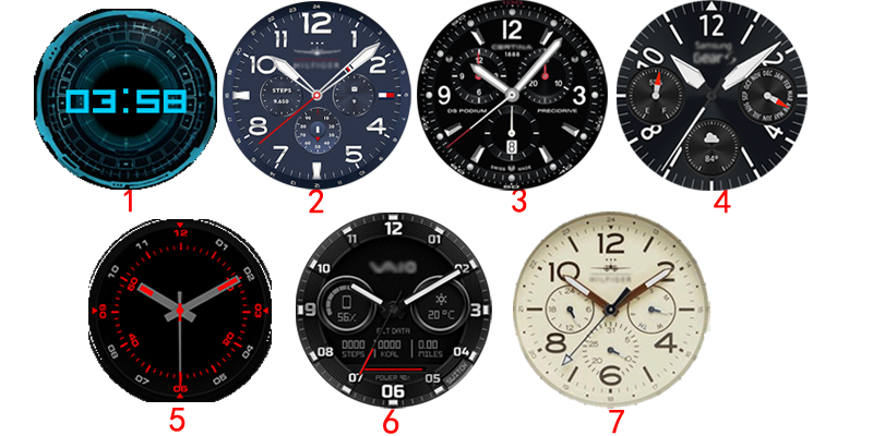 top downloaded VXP watchfaces